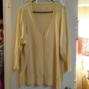 Maurices Yellow Button Up Sweater